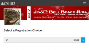 Jingle Bell Beach Run Online Registration